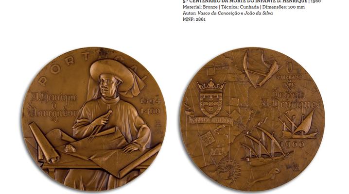 João da Silva - Medalha 5º centenário da morte do Infante D. Henrique bronze