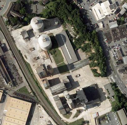 Luftbild des Zementwerks um 2014/15