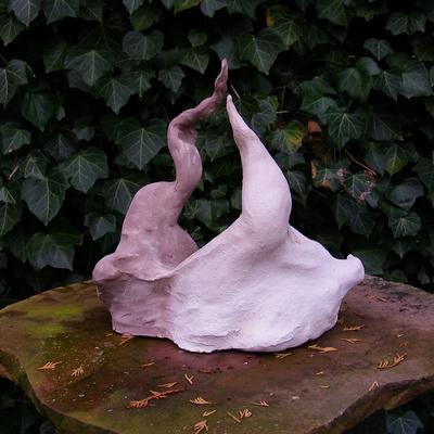 Kleibeeld gemaakt vanuit het thema 'balans'. Balans is geen vaststaand gegeven, het is constant in beweging, als een soort dans.