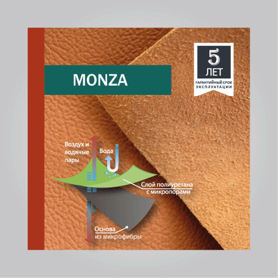 Коллекция экокожи MONZA (auto-microfiber)
