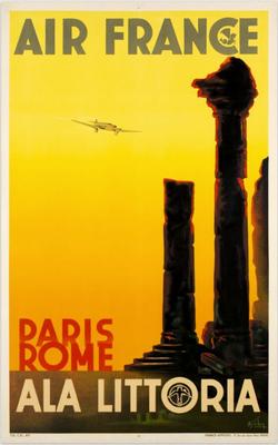 Air France - Ala Littoria - Paris Rome