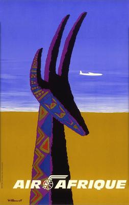Bernard Villemot - Air Afrique - Original Vintage Poster