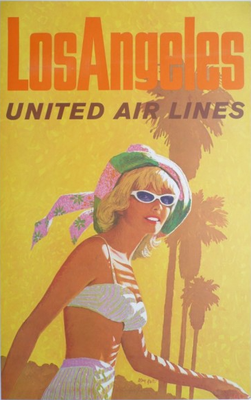 United Air Lines - Los Angeles - Galli