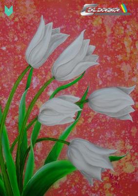 Tulpen Airbrushvorlage