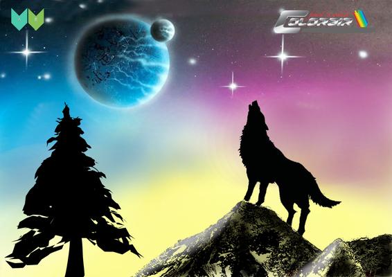 Wolf Weltall Vorlage