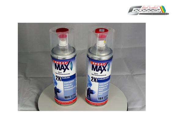 2 K und 1 K Spraymax Farben in matt und glänzend