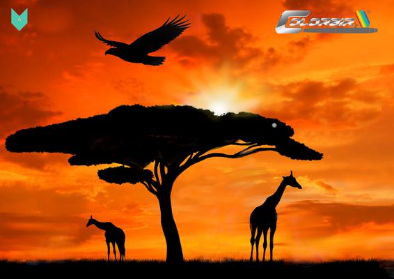 Afrika Airbrushvorlage