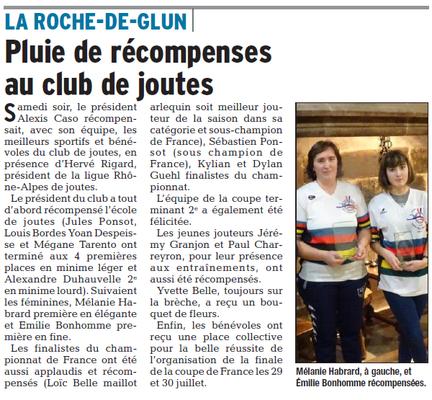Dauphiné Libéré -30-01-2018- ROCHE DE GLUN