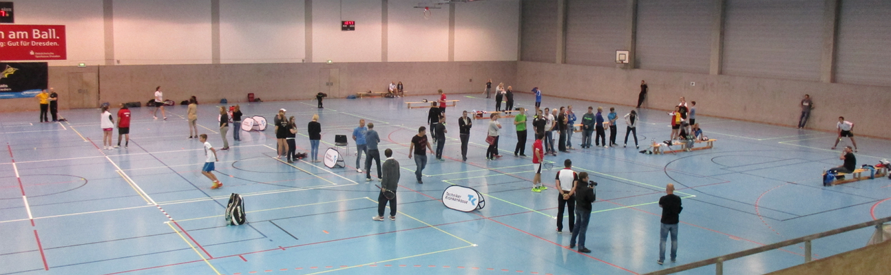 Crossminton:  Deutsche Meisterschaft im Einzel in  Dresden, am 27. September 2015