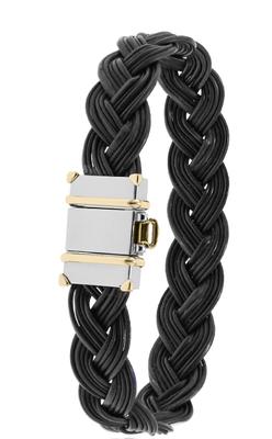 Bracelet Eléphant tressé, fermoir or 18 carats.
