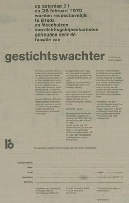 Advertentie gestichtswachter 1970