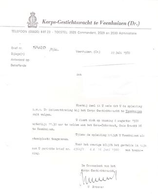 Uitnodiging 22 juli 1980