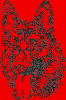 05820 Schäferhundkopf 11 x 16,5cm