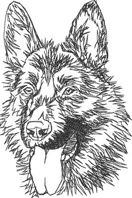 05818 Schäferhundkopf 7x10,5 cm