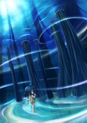 ジェイ   水底を見上げながら水上を歩く。水の間の水のないところ。