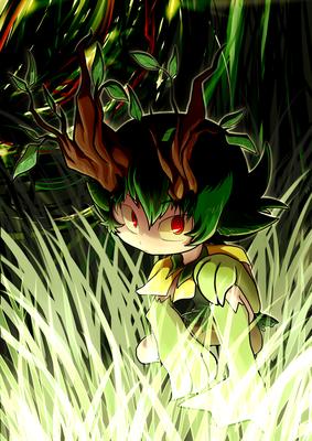 光る森の奥。