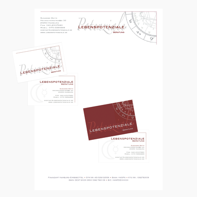 Briefpapier, Visitenkarten | Tools: Photoshop, Illustrator