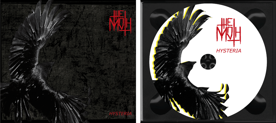 CD Cover inside & Label für THE MOTH – HYSTERIA | Tools: Photoshop, Illustrator