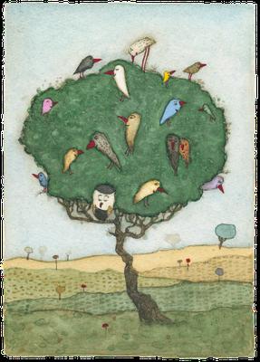 Familienbaum · Aquarell · 10x15cm