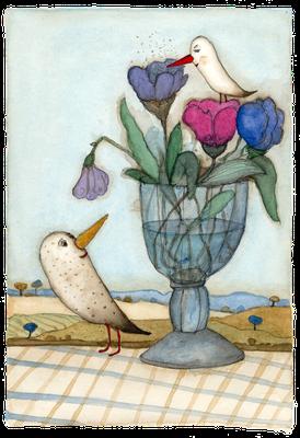 Vogel Strauß · Aquarell · 17x24cm