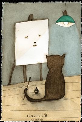 Selbstporträt · Aquarell · 17x25cm