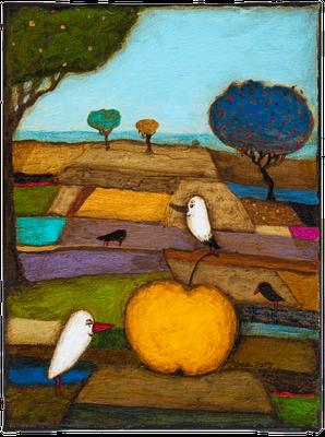 Ernte Dank · Acryl/ Leinwand · 18 x 24 cm