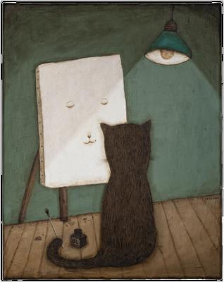 Selbstporträt · Acryl/ Leinwand · 40 x 50 cm