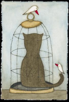 Al Cat Raz · Aquarell · 18x24cm