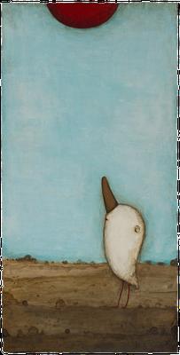 Erwartungsvoll · Acryl/ Leinwand · 40 x 80 cm