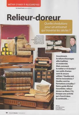 ANTIQUITÉS BROCANTE PAGE 58 - RELIURE GOURDELIER -Droits réservés