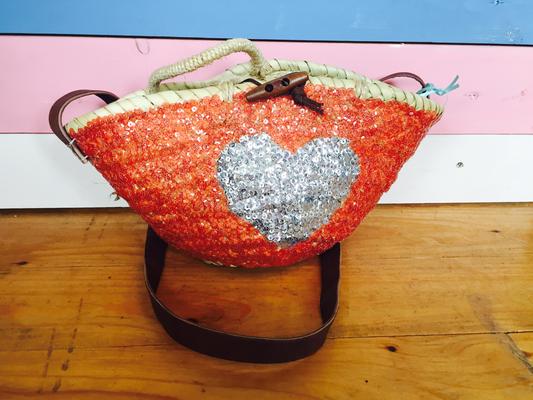 "Beachkorb Kids ""Heart"" coral 34€"
