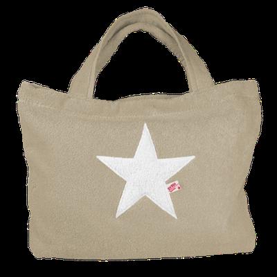 Poolbag taupe, Stern white, Maße: Höhe 33 cm, Breite 45 cm, Höhe 55 cm mit Träger Waschbar bei 30°C, 79€