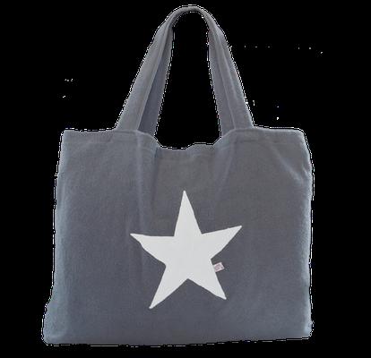 Beachbag platin, Stern white, Höhe: 50 cm, Breite: 64 cm, Höhe: 70 cm mit Träger Waschbar bei 30°C, 119€