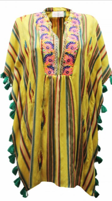 Kaftan Bahia, erhältlich only in yellow, one size, 100% Cotton,   156€ on SALE -40%