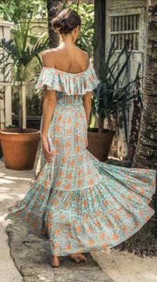 Dress Gardenia, erhältlich in türkis/coral und yellow/coral, one size, 100% Modal,   149€