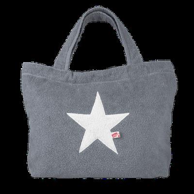 Poolbag platin, Stern white oder silber, Maße: Höhe 33 cm, Breite 45 cm, Höhe 55 cm mit Träger Waschbar bei 30°C, 79€