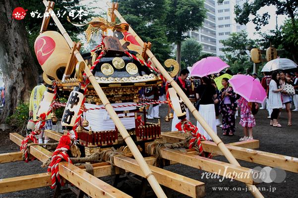 与野夏祭り:上町氷川神社境内〈仲町・神輿〉@2014.07.19