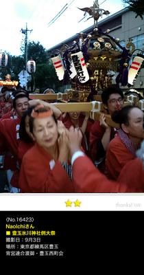 NaoIchiさん:豊玉氷川神社例大祭, 2016年 9月4日