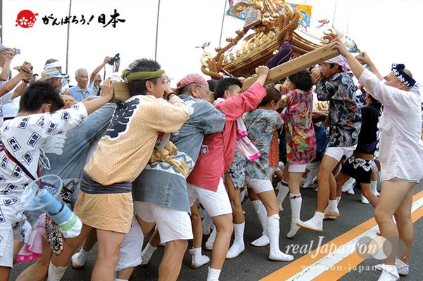 〈2014年 羽田まつり・各町神輿連合渡御〉上東 町会