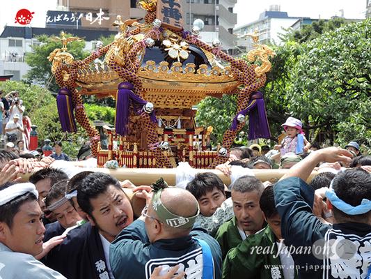 亀戸天神社例大祭:十番〈緑二丁目〉2014.08.24  Ⓒreal Japan'on!:ktj14-020