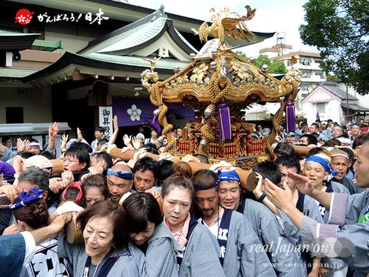 亀戸天神社例大祭:二十三番〈江東橋二丁目〉2014.08.24  Ⓒreal Japan'on!:ktj14-045