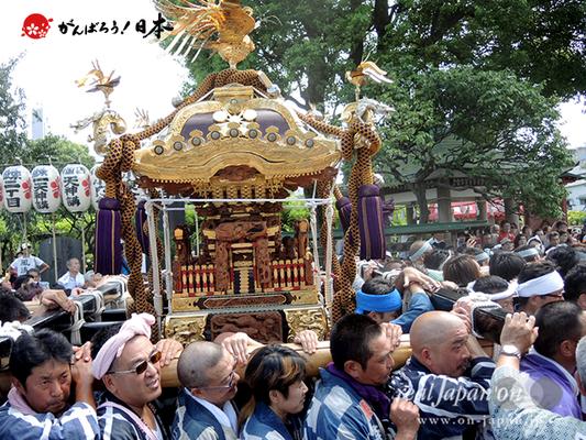 亀戸天神社例大祭:二十二番〈亀一天神講〉2014.08.24  Ⓒreal Japan'on!:ktj14-044