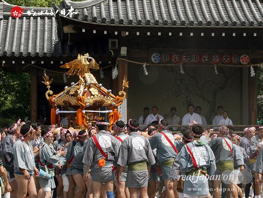 亀戸天神社例大祭:十七番〈両四天神講〉2014.08.24  Ⓒreal Japan'on!:ktj14-035