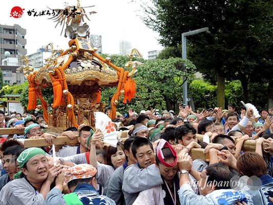 亀戸天神社例大祭:八番〈菊川一丁目〉2014.08.24  Ⓒreal Japan'on!:ktj14-018