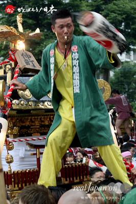 与野夏祭り:上町氷川神社境内渡御〈仲町〉@2014.07.19