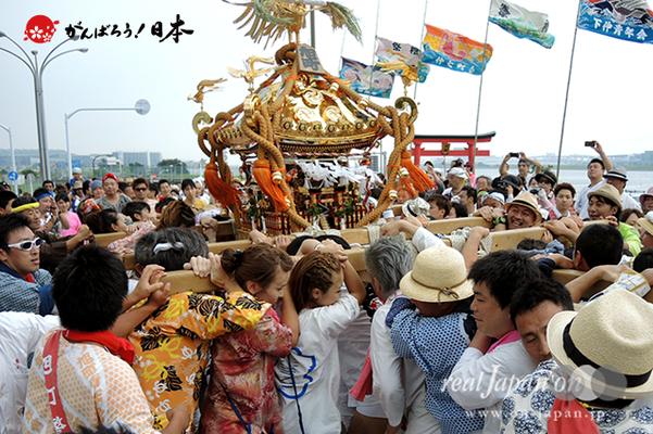〈2014年 羽田まつり・各町神輿連合渡御〉旭町 町会