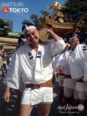 東京マラソン2017, 富岡八幡宮神輿渡御, 門前仲町一丁目(仲一)神輿, 2017年2月26日