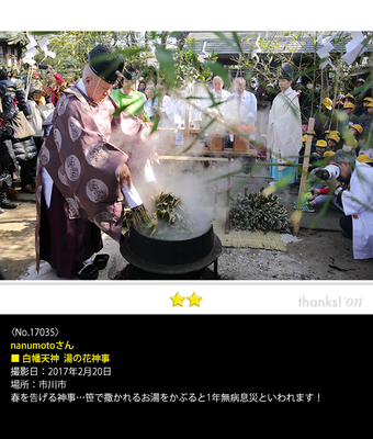 nanumotoさん:白幡天神  湯の花神事, 2017年2月20日