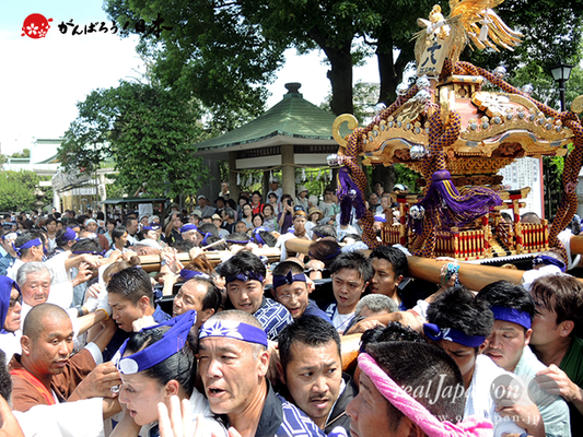 亀戸天神社例大祭:十八番〈江東橋三丁目〉2014.08.24  Ⓒreal Japan'on!:ktj14-038