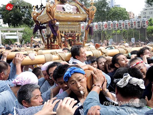 亀戸天神社例大祭:二十五番〈江東橋四丁目〉2014.08.24  Ⓒreal Japan'on!:ktj14-049